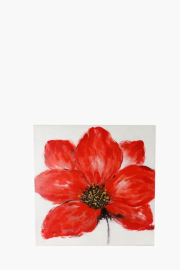 100% Hand Painted Flower 100x100cm Wall Canvas