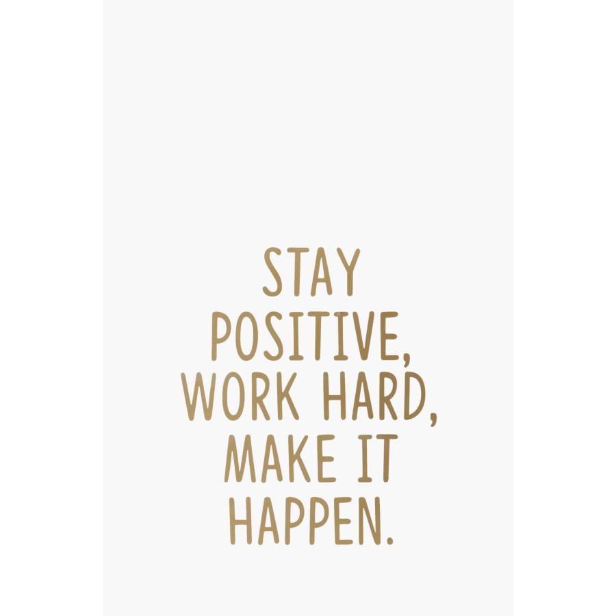 Stay Positive Vinyl Wall Art