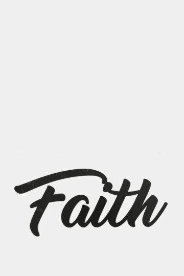 Vinyl Faith Small Wall Art