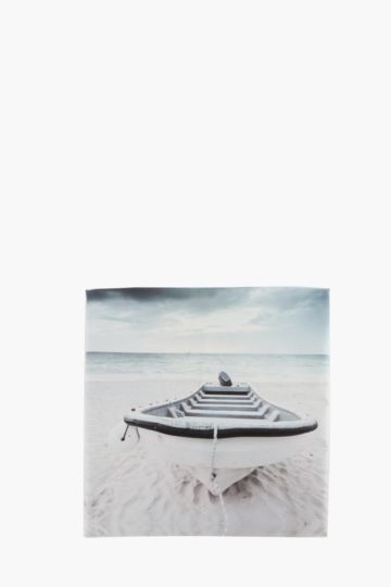 Beached Boat 40x40cm Wall Art