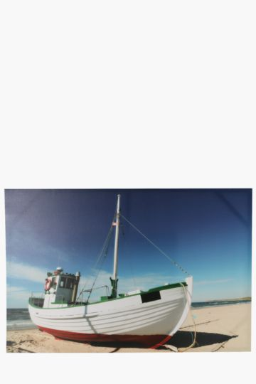 Beached Boat 60x90cm Wall Art