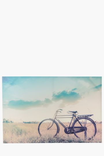 Bike In Field 60x90cm Wall Art