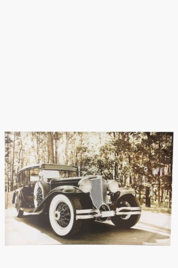 Vintage Car 60x90cm Wall Canvas