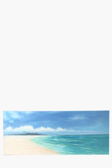 100% Hand Painted Sea Shore 170x70cm Wall Canvas
