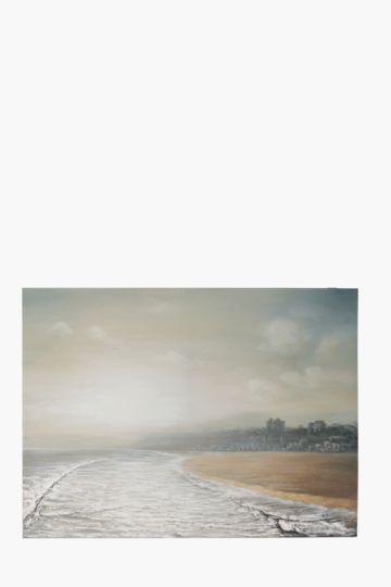 100% Hand Painted Moody Beach 120x90cm Wall Canvas