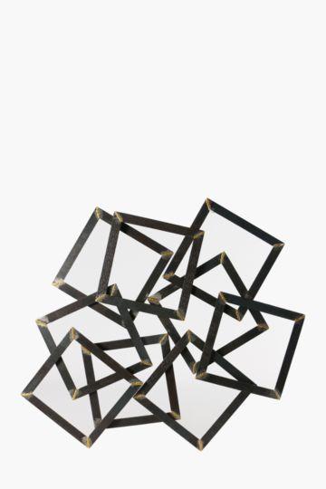 Dimensional Metal Block Wall Art