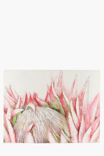 100% Hand Painted Protea 120x90cm Wall Canvas