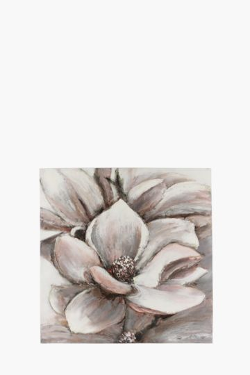 100% Hand Painted Magnolia 100x100cm Wall Canvas