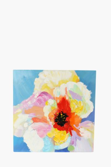 100% Hand Painted Flower 60x60cm Wall Canvas