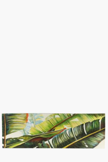 100% Hand Painted Banana Leaf 135x35cm Wall Canvas
