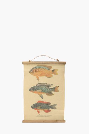 Hanging Fish Dimensional Wall Art