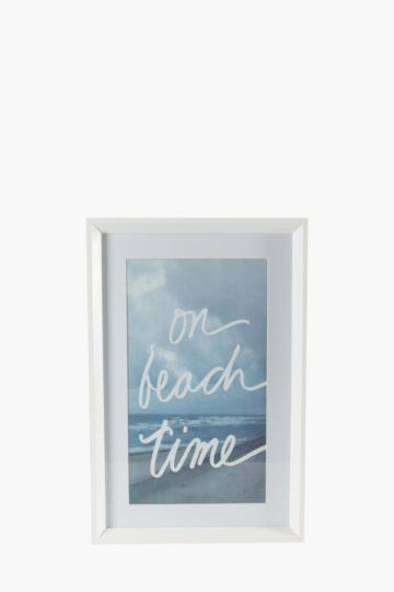 Framed Beach Time 60x40cm Wall Art