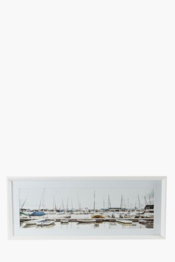 Framed Durban Harbour 100x40cm Wall Art