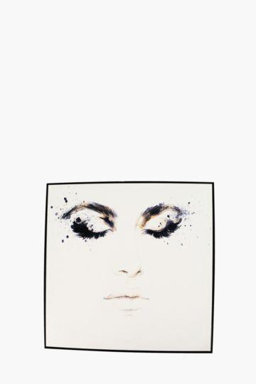 Framed smokey eyes 60x60cm wall art