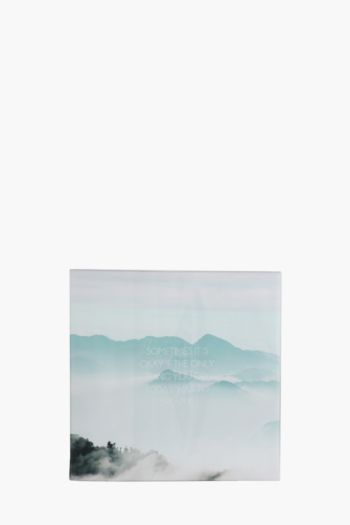 Printed Misty Mountains 40x40cm Wall Art