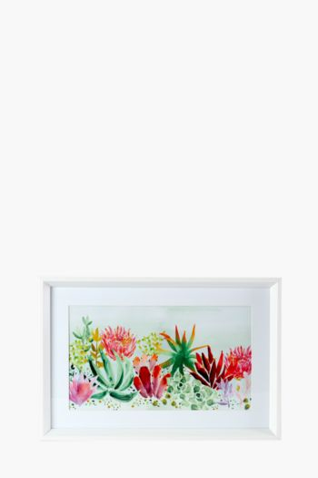 Framed Succulent 40x60cm Wall Art