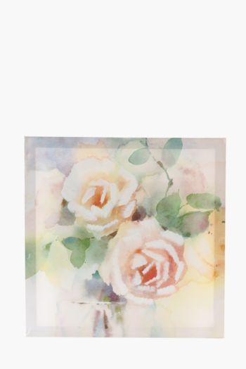 Blush Flowers 40x40cm Wall Art
