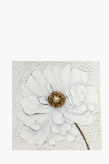 Hand Painted Pastel Flower 100x100cm Wall Canvas
