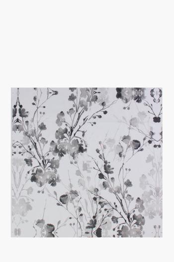 Printed Mono Blossom 100x100cm Wall Art