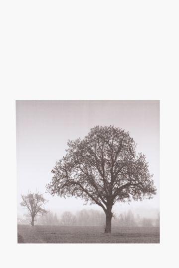 Printed Mono Tree 40x40cm Wall Art