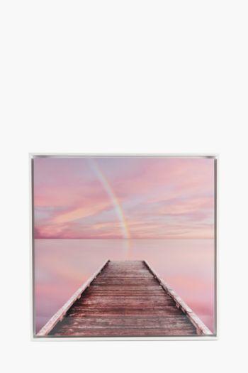 Framed Glossy Beach Walk Wall Art