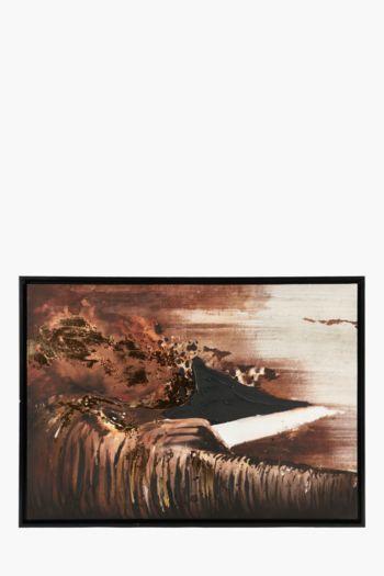 Framed Abstract Elephant 60x90cm Wall Art