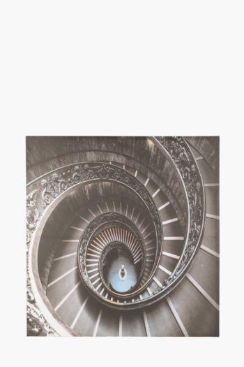 Printed Staircase 100x100cm Wall Art