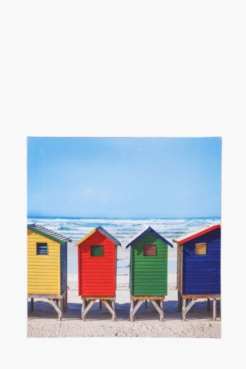 Beach Huts 40x40cm Wall Art
