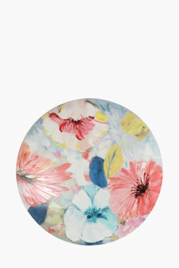 Hand Painted Floral 80cm Wall Canvas