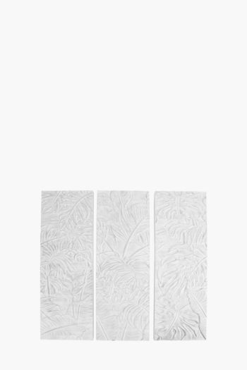 3 Floral Embossed Wall Art