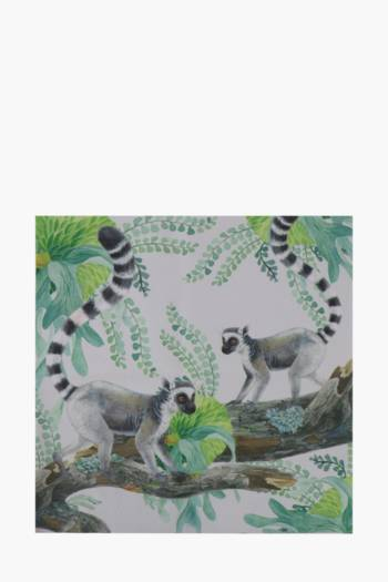 Printed Lemur Monkey 40x40cm Wall Art
