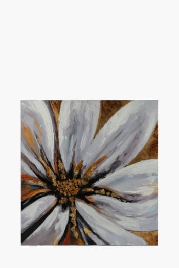 Hand Painted Flower 100x100cm Wall Canvas