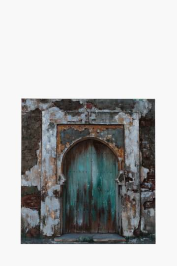 Hand Painted Abstract Arch 100x100cm Wall Canvas