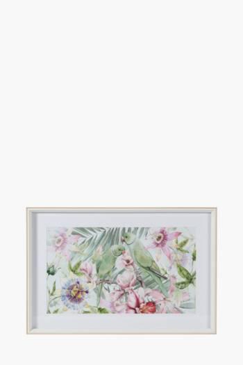 Framed Parrots 40x60cm Wall Art