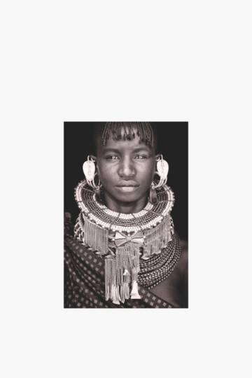 Printed Tribal Lady 40x60cm Wall Art
