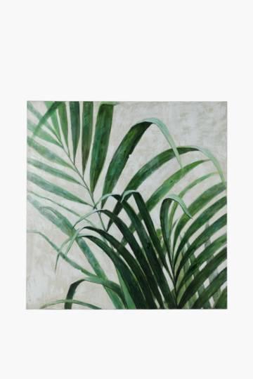 Hand Painted Fern Leaf 120x90cm Wall Canvas