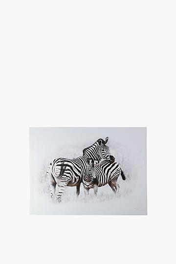 John Lamberti Printed Zebras Wall Art