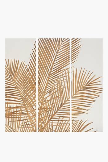 3 Palm Leaf Wall Art