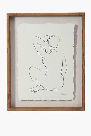 Lady Sketch Framed Wall Art