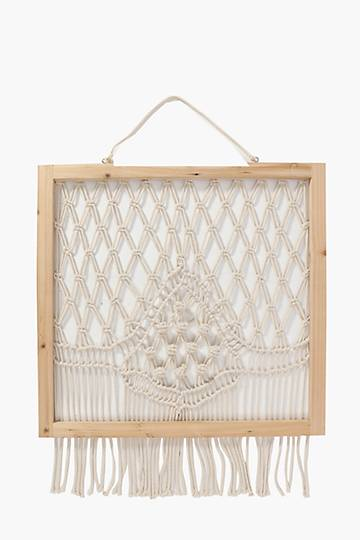 Macrame Knotted Hanging Wall Art, 50x50cm