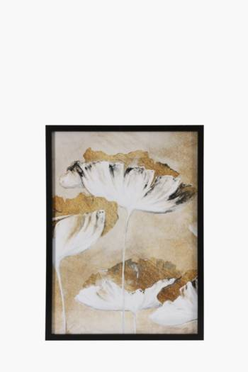 Framed Peony Flower 50x70cm Wall Art