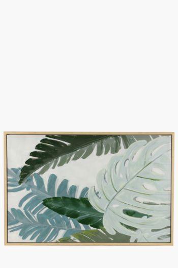 Framed Palm Leaves 80x120cm Wall Art