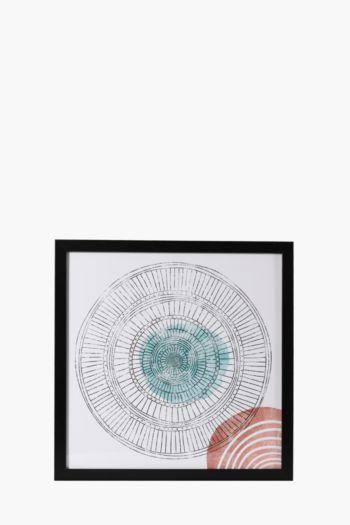 Framed Geo 40x40cm Wall Art