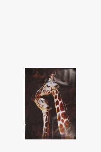 Printed Giraffes 60x90cm Wall Art