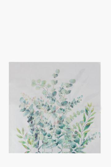 Printed Elegant Leaf 100x100cm Wall Art