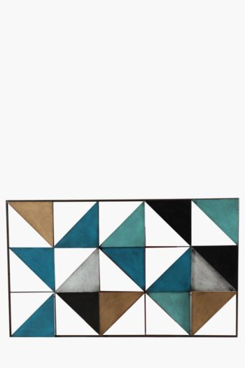 Metal Multi Triangle 60x100cm Wall Art