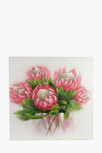Hand Painted Protea 120x90cm Wall Canvas