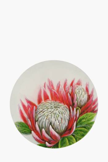 Hand Painted Protea 120cm Wall Canvas