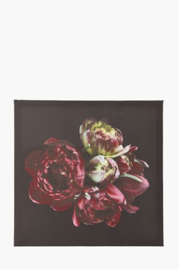 Printed Ruby Floral 40x40cm Wall Art