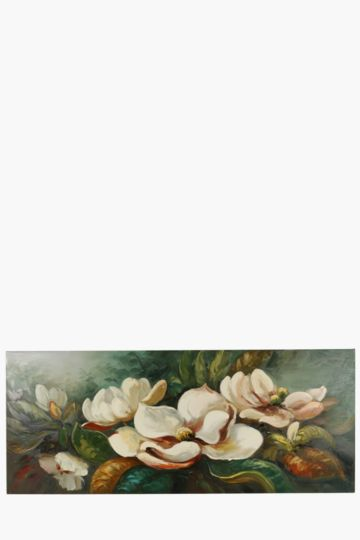 Hand Painted Bouquet 170x70cm Wall Canvas